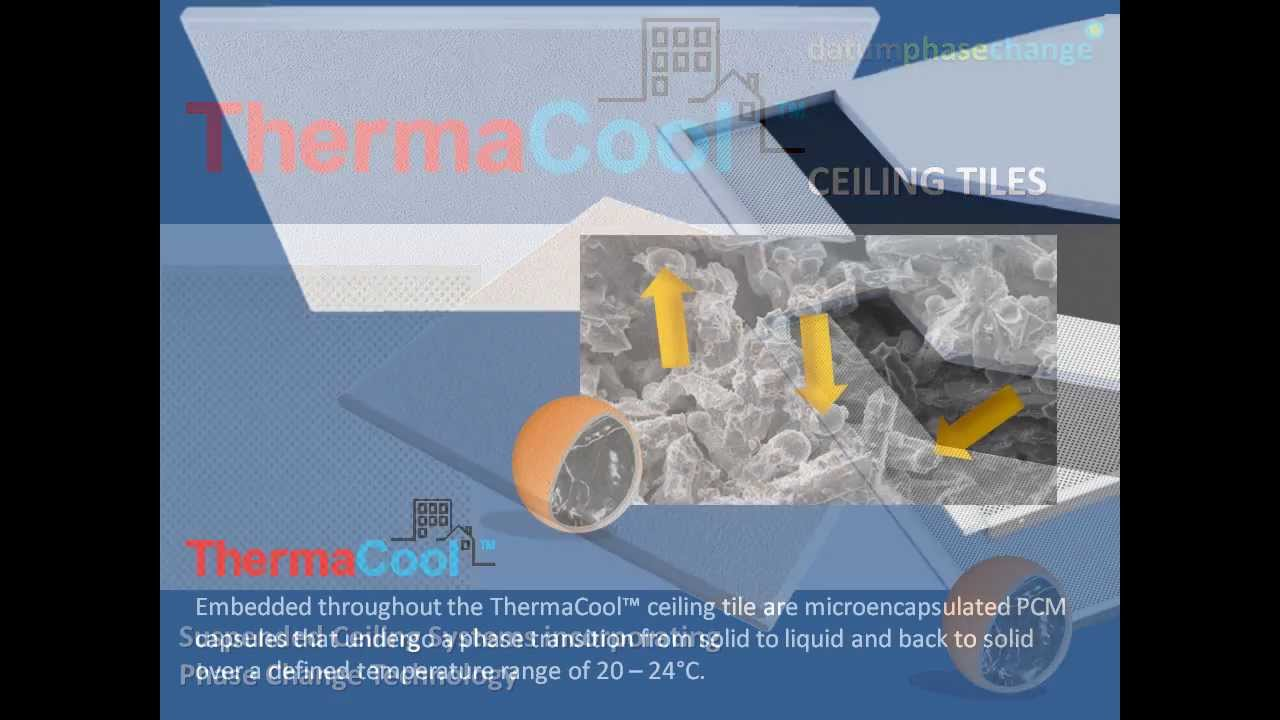 Thermacool ceiling tile incorporating phase change material youtube thermacool ceiling tile incorporating phase change material doublecrazyfo Images