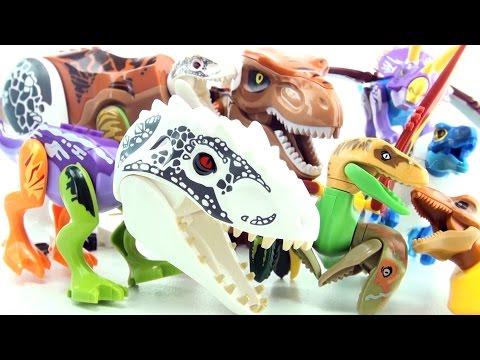 Lego Jurassic World Mutant Dinosaurs - Hybrid dinosaur toys - Indominus Rex Tyrannosaurus
