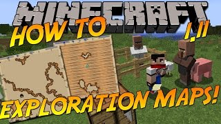 How To: Get & Use Exploration Maps [Ocean & Woodland] | Minecraft 1.11