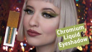 Обзор NATASHA DENONA Chromium Liquid Eyeshadow SCARAB Жидкие Тени Мультихромы Макияж Cut Crease