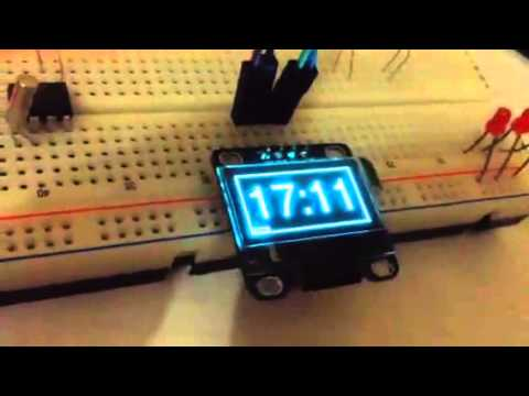 OLED 20x2 screen test - Raspberry pi + Python | FunnyCat TV