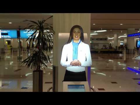 Hologram Concierge at Dubai international airport