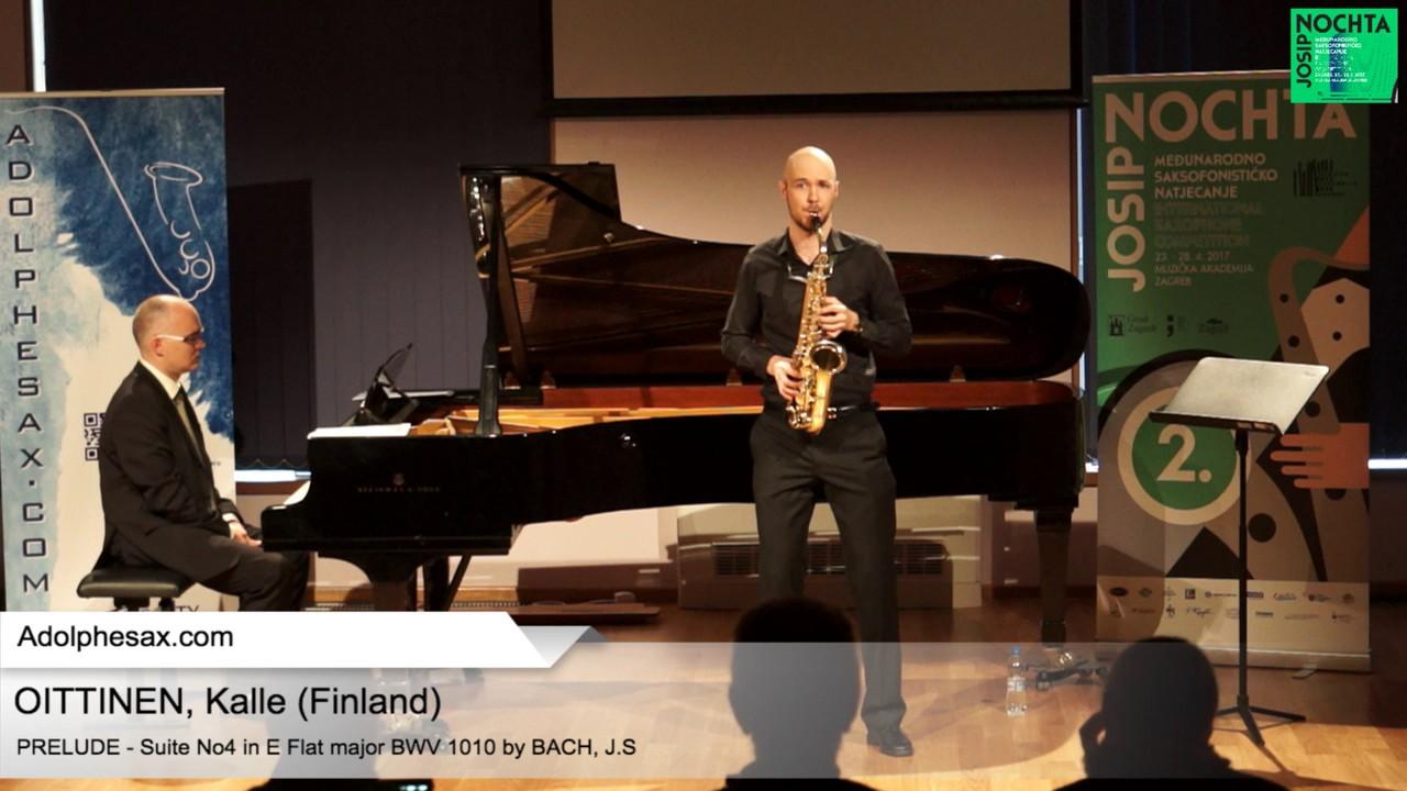 Johann Sebastian Bach – Suite No 4 in E  at major BWV 1010 – Pre?lude –  OITTINEN, Kalle (Finland)