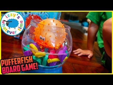 PUFFER FISH BOARD GAME! Izzy's Toy Time Board Game Night!