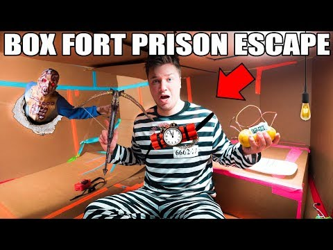 24 HOUR BOX FORT PRISON ESCAPE!! 📦🚔  ZOMBIE PRISON ESCAPE