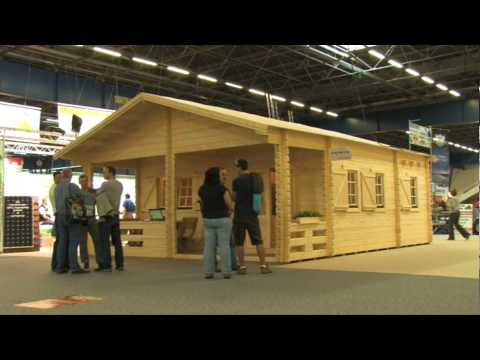 Sp Distribution Expose Son Chalet En Madriers Week End Au Salon Du Bois De Grenoble 2011