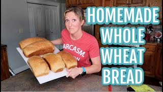Easy Homemade 100% Whole Wheat Bread | Cook with Me