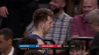 Luka Doncic Nails Unreal 3 Pointer To Force OT vs. Blazers