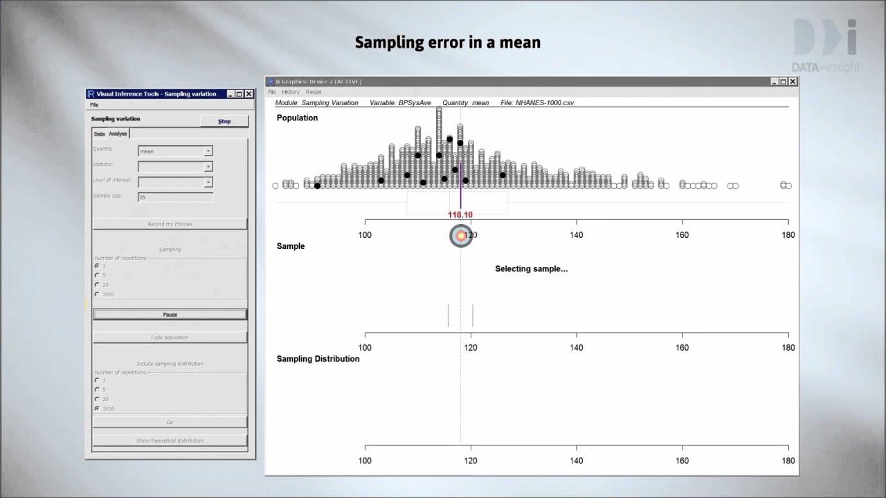 fc1078d7036f0 Random Error: Part 1 - Sampling variation & Sampling error - YouTube