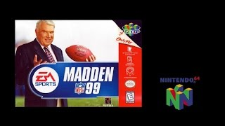 Madden NFL 99 (Nintendo 64) Redskins vs Cowboys (Gameplay) The N64 Files