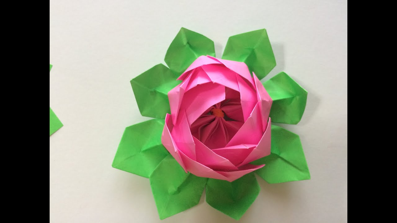 How To Make Flower With Origami Paper