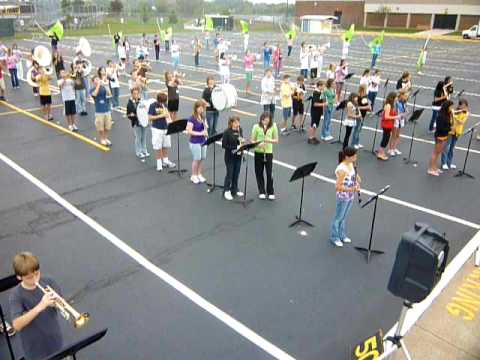 Bettendorf Marching Band Rehearsal Middle and High School