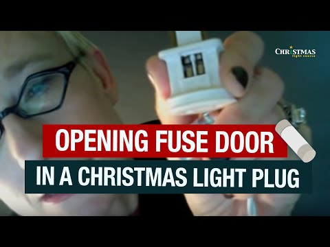 opening fuse door in a christmas light plug - Christmas Light Fuse