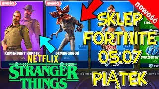 FORTNITE 05.07 STORE-SKINS NETFLIX Stranger Things-Demoorgon, Commander Hopper, Decadcza painting
