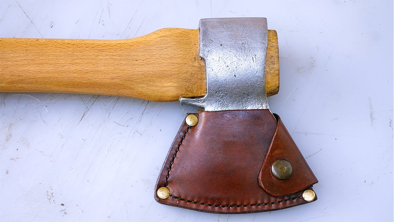 I Made A Leather Sheath For A Restored Axe