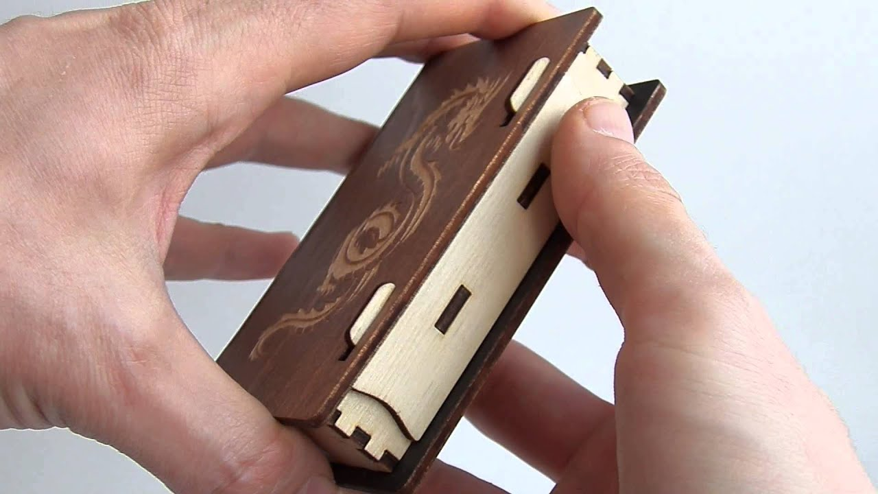business card holder laser cut plywood with engrave dragon youtube