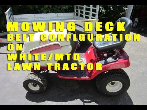 huskee riding mower belt diagram white mtd lawn tractor mowing deck    belt    configuration  white mtd lawn tractor mowing deck    belt    configuration