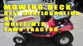 White/MTD Lawn Tractor Mowing Deck Belt Configuration