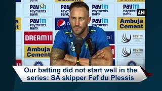 South Africa batting did not start well in the test series: Faf du Plessis