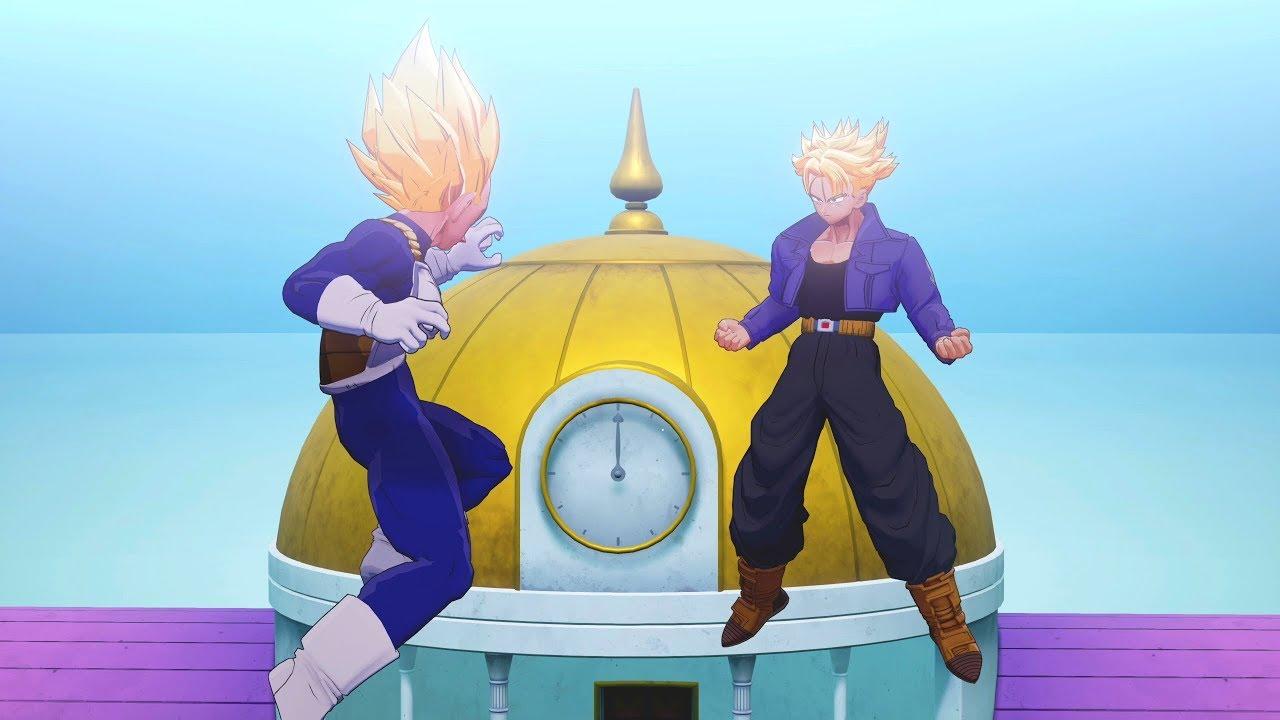 Dragon Ball Z Kakarot Vegeta Trunks Train In The Hyperbolic Time Chamber Hd Youtube