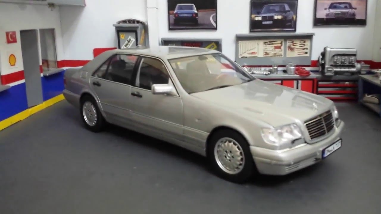 1/18 MERCEDES-BENZ S-Cl NOREV S600 1997 - YouTube on