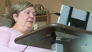 Blinks of an eye helping woman with ALS to communicate