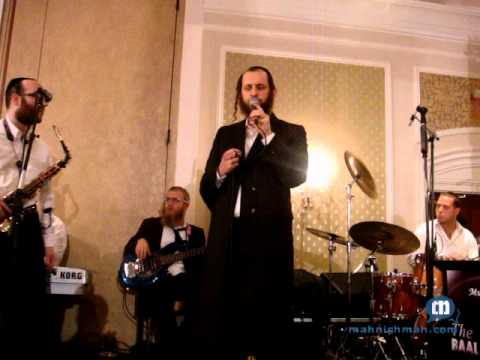 shimmy engel singing aleh katan in yiddish at wedding with