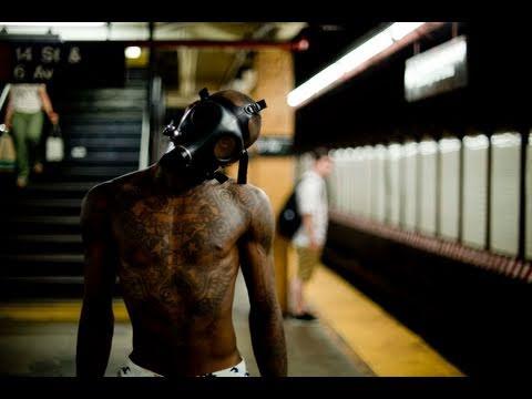 "Bones the Machine & DJ Aaron ""Finger Food"" Flexing GasMask | YAK FILMS B'ZWAX"
