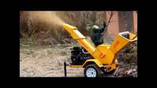 Ritlee 225 Trailer Mtd Diesel Wood Chipper YT  www.ritlee.co.za