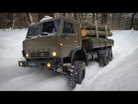 Камаз на Радиоуправлении...Тест по Снегу с Полной Загрузкой
