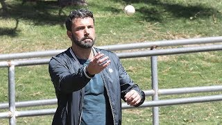 Ben Affleck Supports Son Samuel At His Baseball Game, Looks Miserable