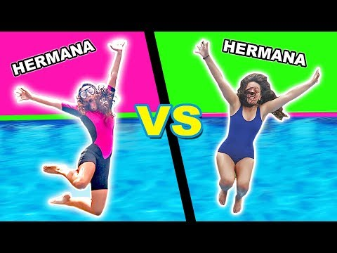 SALTOS A La PISCINA HERMANA VS HERMANA! 💧Girls Jumping Into Pool! Arivi TV