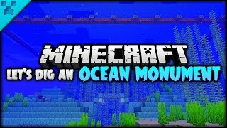 LET'S DIG AN OCEAN MONUMENT! | Python's World LIVE (Minecraft Survival Let's Play S3 1.14)