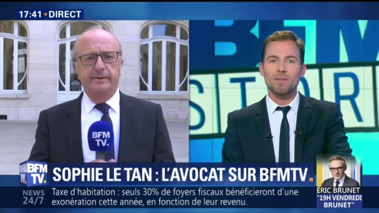 L'avocat des parents de Sophie Le Tan s'exprime sur BFMTV