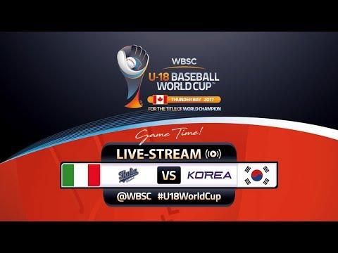 Italy v Korea - WBSC U-18 Baseball World Cup 2017