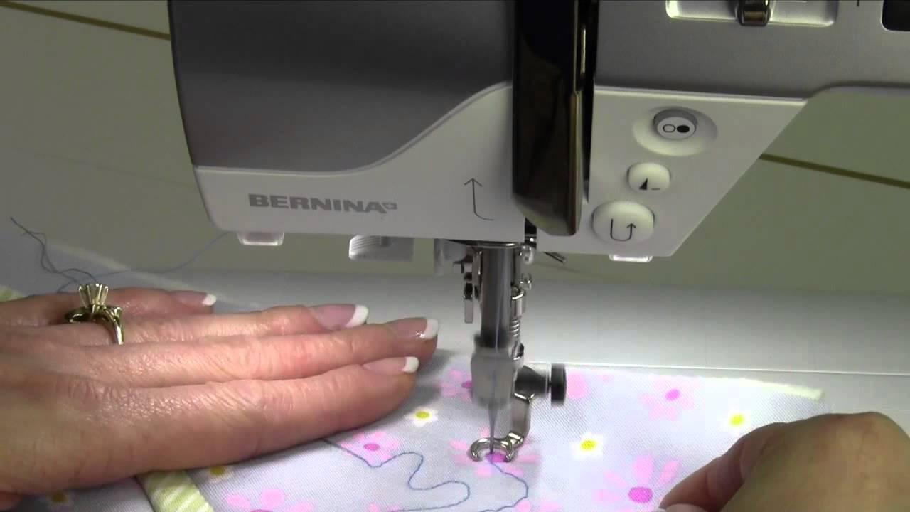 Bernina 530 53 Free Motion Quilting - YouTube : bernina free motion quilting foot - Adamdwight.com