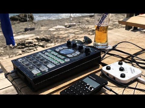 How I Film Beat Videos On Vacation... |[ PO-33 → SP404A → GO:MIXER → IPhone (w/ Auphonic App) ]|