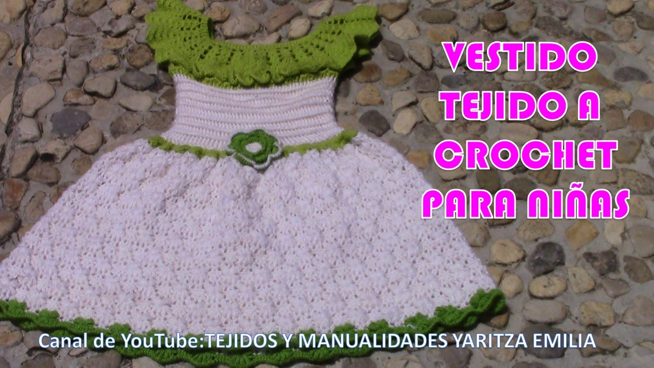 Vestidos tejidos a crochet para ni as youtube for Gancho perchero pared