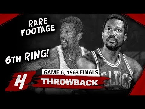 The Real GOAT? Bill Russell Game 6 Highlights vs Lakers (1963 NBA Finals) - 12 Pts, 24 Reb, 9 Ast!