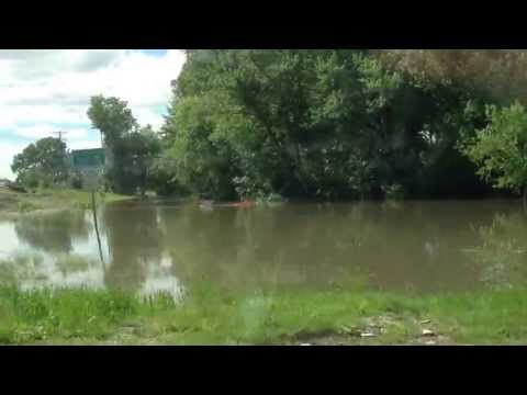 Flooding At Crandic Park In Iowa City IA June 2nd 2013