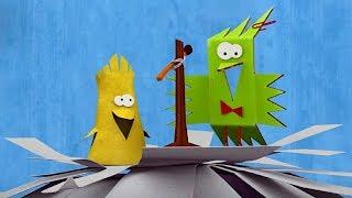 Бумажки - Все серии про сойку Аглаю и ее птенчиков  - сборник  - мультфильм про оригами для детей