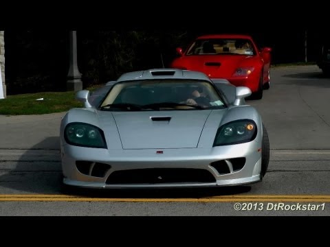 Saleen S7 Twin Turbo Revving, Short Acceleration