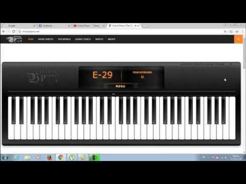 Titanic virtual  piano with sheet