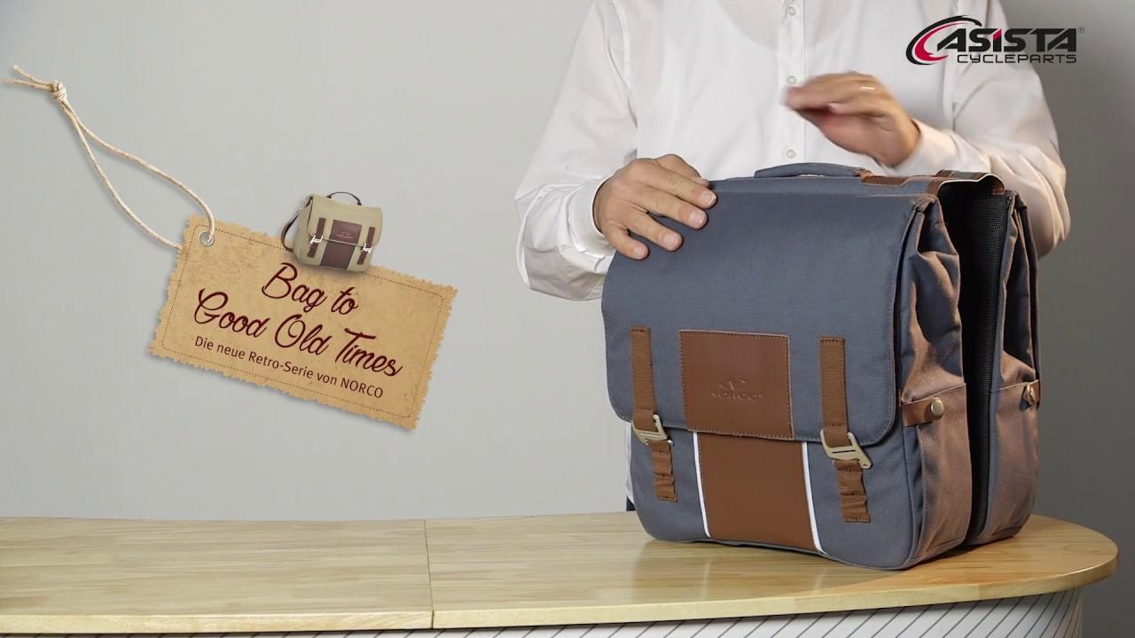 Norco Leder Gepäckträgertasche Doppeltasche Picton