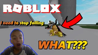 Whe are ragdolling everywehere!  Roblox Adventures