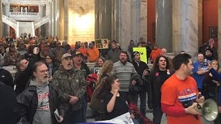 Protests Erupt in Kentucky After GOP Supermajority Passes Extreme Anti-Choice, Anti-Union Bills