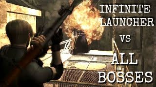Killing ALL Bosses with the ROCKET LAUNCHER | Resident Evil 4 HD