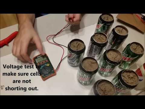 Soda Can Battery - Power From Trash - DIY Project