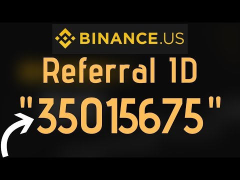 Binance.us Referral ID | Binance US NEW Site Referral ID