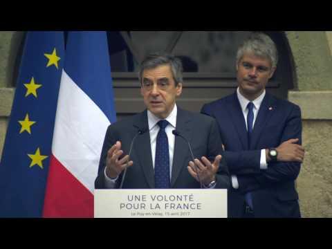 Discours de François Fillon au Puy-en-Velay